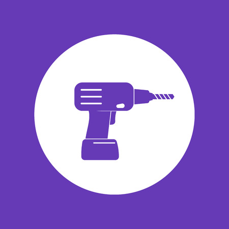 Electric screwdriver, drill icon Ilustrace