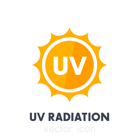 UV-straling, ultraviolet pictogram Stock Illustratie