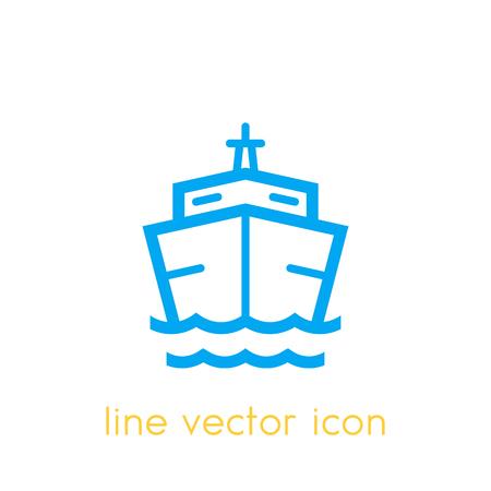 Ship icon on white