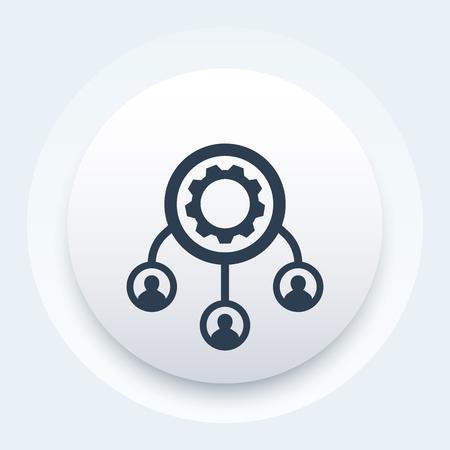 outsource vector icon