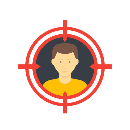 target audience icon, flat style
