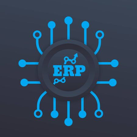 ERP system icon Illustration