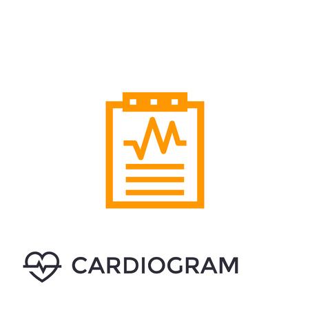 cardiogram, heart diagnosis icon Illustration