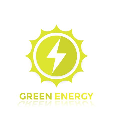 green energy vector logo design