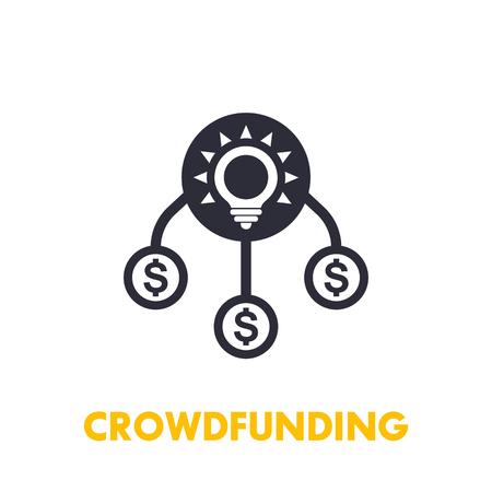 crowdfunding icon on white