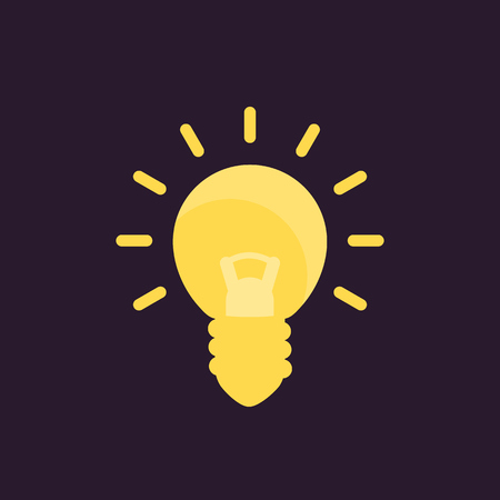 Shining light bulb icon