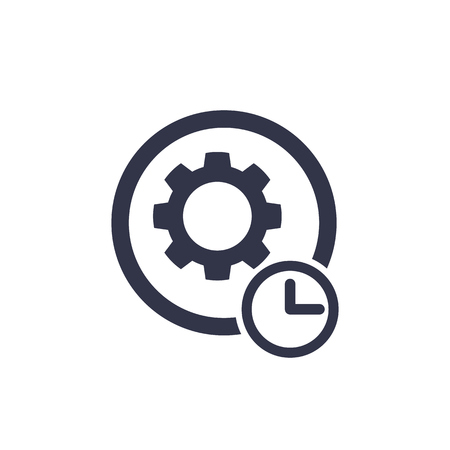 production cycle icon on white