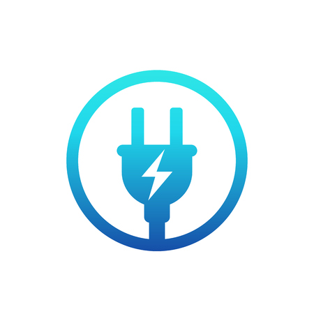 electric plug, electricity icon