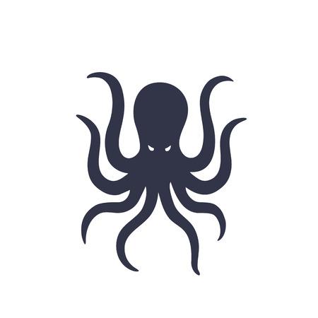 Octopus isolated on white Illustration