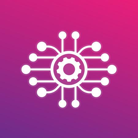 production, development icon Stock Illustratie