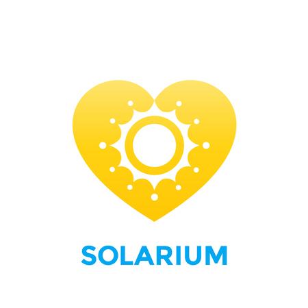 Solarium logo with sun and heart. Illusztráció