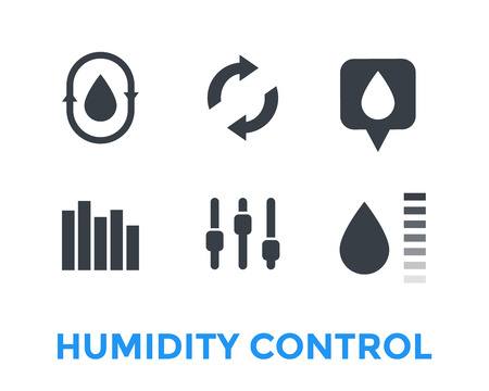 Humidity, water control icons