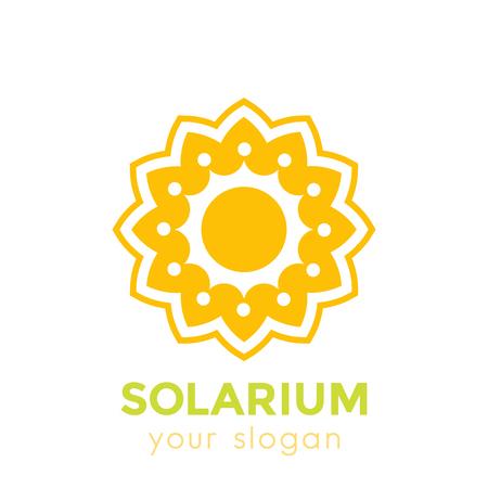 solarium logo with sun and flower on white