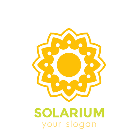 solarium logo with sun and flower on white