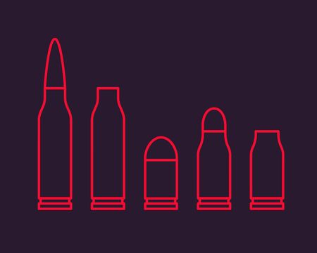 Bullets outline vector illustration
