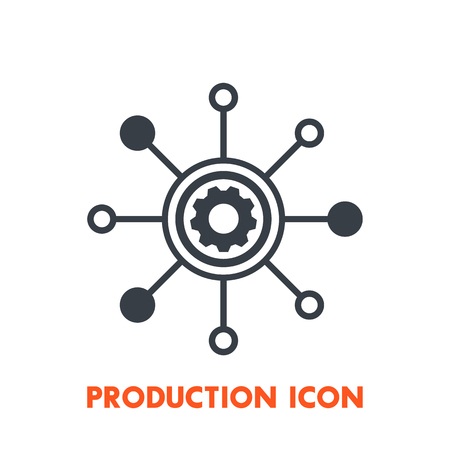 Production icon on white