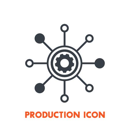Production icon on white