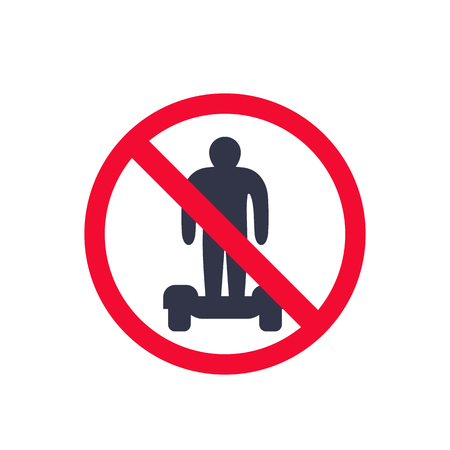 no hoverboards sign Vector illustration.