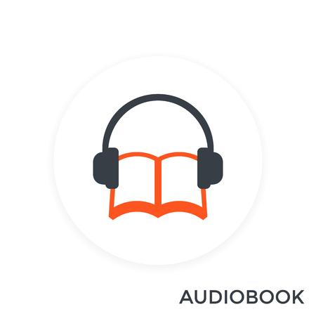 audiobook icon, vector illustration