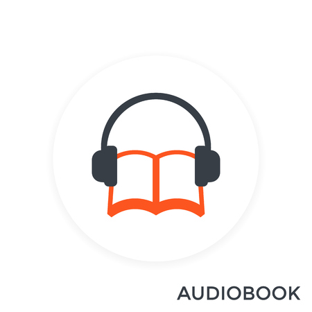 audiobook icon, vector illustration