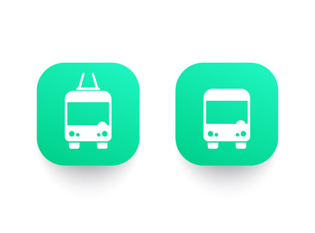 Bus and trolleybus icons.
