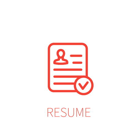 resume icon, linear