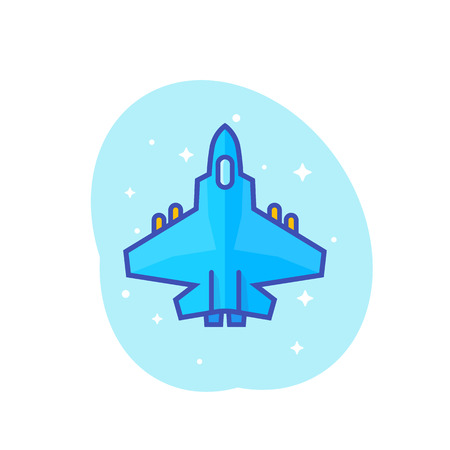A combat aircraft, fighter jet vector illustration Illustration