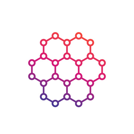 A graphene, carbon structure vector illustration  イラスト・ベクター素材