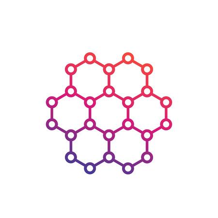 A graphene, carbon structure vector illustration Ilustracja