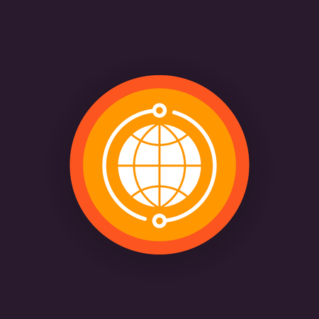 A global network icon, vector pictogram