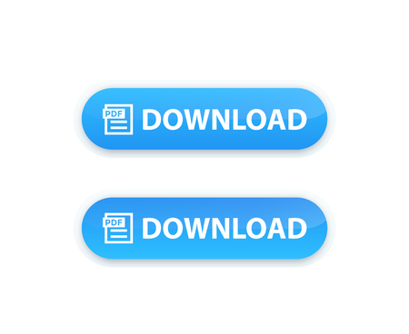 PDF download button isolated on plain background.