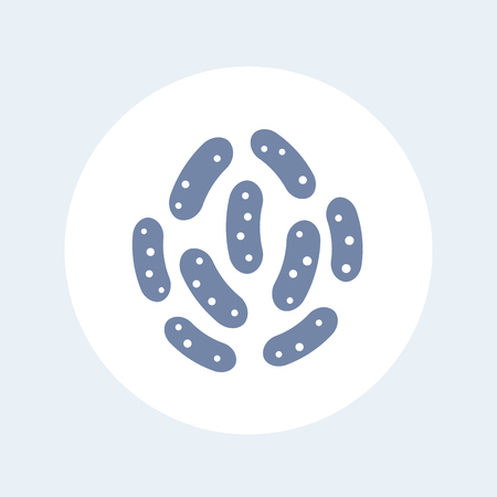 A bacteria icon isolated on white isolated on plain background.