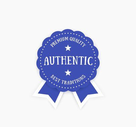Authentisches Emblem, Vektorabzeichen Standard-Bild - 96830429