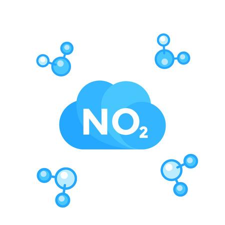 A NO2, nitrogen dioxide molecule