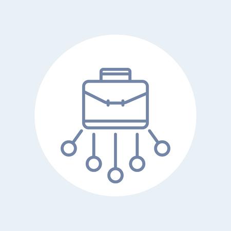 Portfolio line icon on white