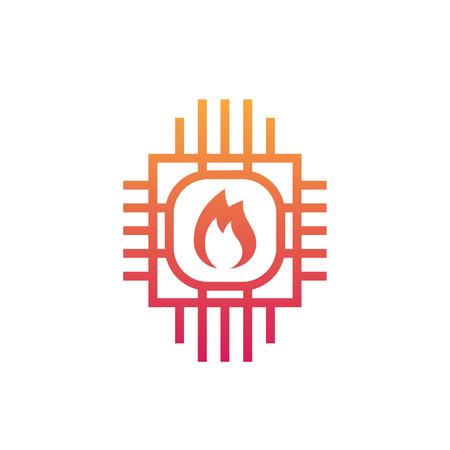 Heating system icon vector illustration