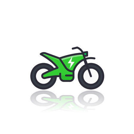Electric bike vector icon on white Illustration