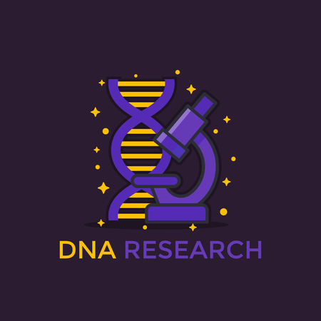 A dna research vector icon