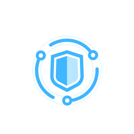 Cybersecurity icon, data protection concept