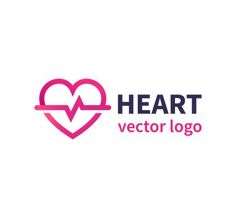 Heart vector logo for cardiology clinic, cardiologist Ilustração
