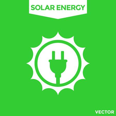 Solar energy vector icon isolated on plain background