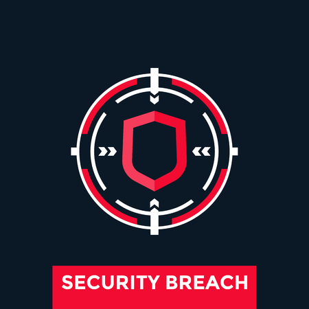 A security breach vector icon