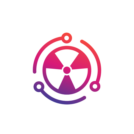 nuclear energy vector icon on white Illustration