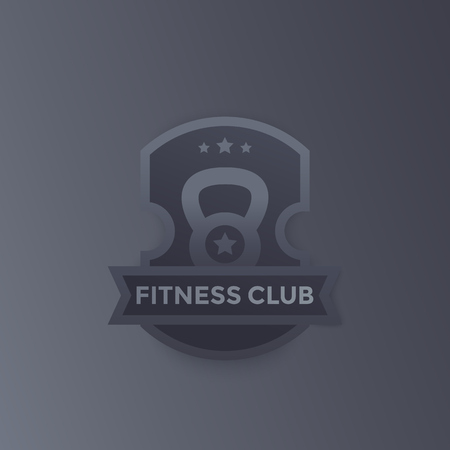 Fitness club, gym vector logo, emblem design Illustration