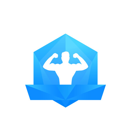 Fitness club, gym vector logo template