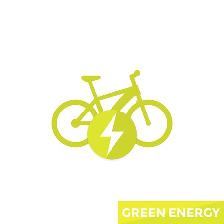 Electric bicycle, e-bike icon isolated on plain background