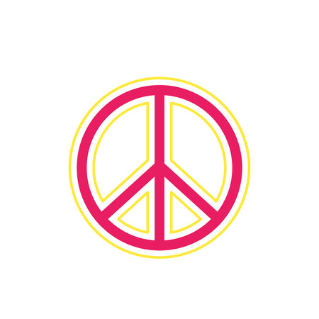 A peace sign on white, vector Illustration