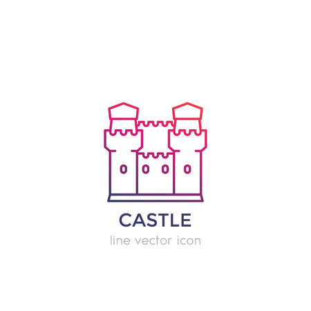 A castle, fortress vector linear icon
