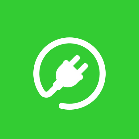 A electric plug icon, car charging station vector sign