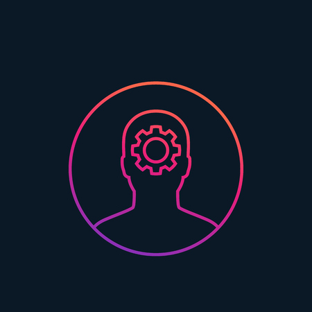 A thinking vector icon